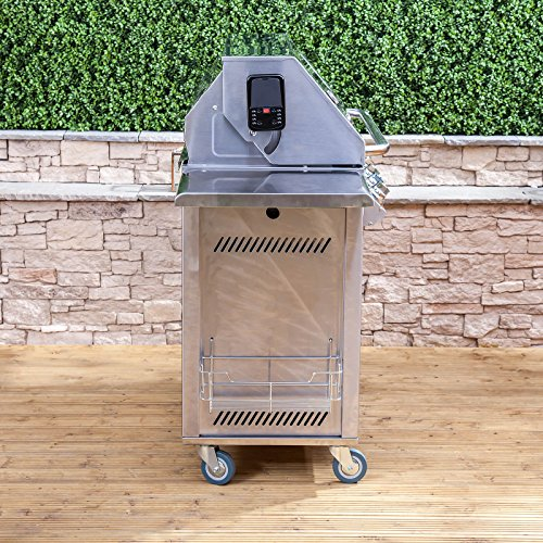 Premier 6+1 Burner Gas Barbecue with Free Propane Regulator - Stainless Steel