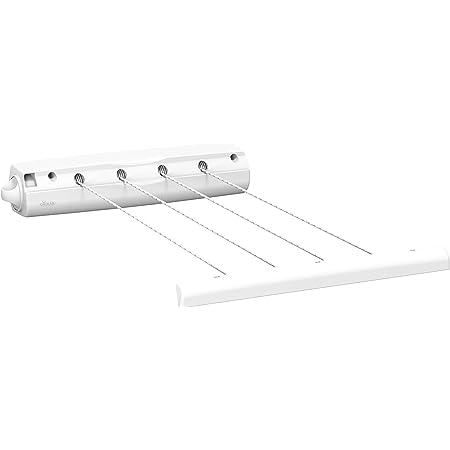 Vileda Étendoir à Linge rembobinable, 4 Cordes rétractables en métal, Blanc, 6,5 x 6,5 x 37cm