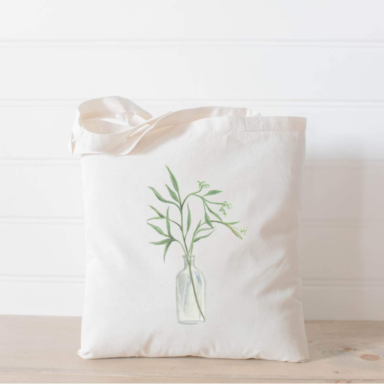 Tote Many popular brands Bag - Eucalyptus Vase Watercolor Ranking TOP2 in USA Handmade pre the