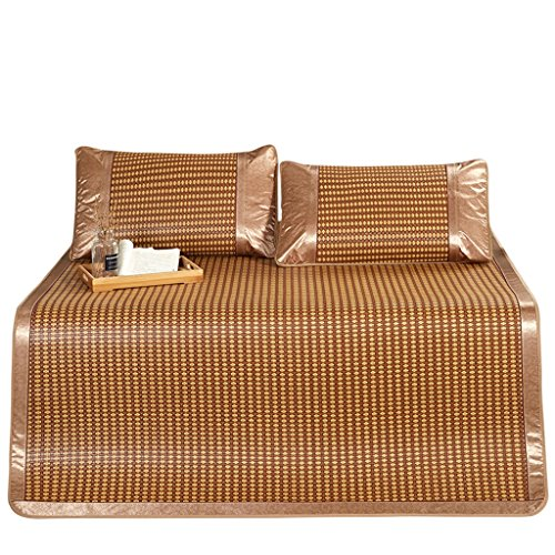 Liuyu · Mat 1.8m Bed Rotan Seat Driedelige vouwen Single Dubbele Student Slaapzaal Bamboe Mat Rietmat 1.2 Hoekband Anti-verplaatsing
