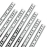 Yaheetech 6 paires/12 pièces Glissière de Tiroir à Billes en acier Coulisses à Extension pour Tiroirs 310 x 17 x 10 mm