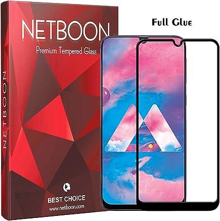 NETBOON Premium Tempered Glass Guard 9H Hardness Curved Edges Full Glue Anti-FingerPrint Screen Protector For Samsung Galaxy M30 Black (NTC840)