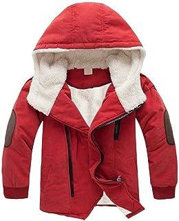 ボア関数筋肉のTrayosin 子供 綿コート 裏起毛 アウター 暖かい 冬 男の子 ジャケット 厚手 ジャケット フード付き リブ袖 100cm-150cm