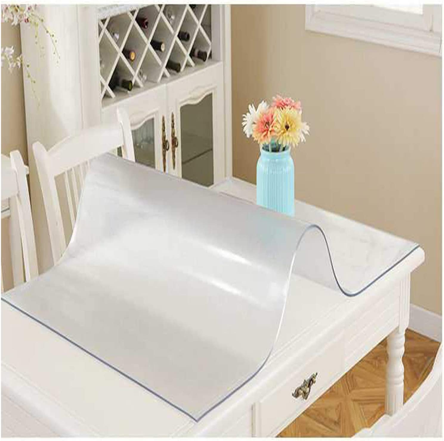 ASDQWER Transparent Tablecloth Clear Cover Desk Protector Max 79% Selling and selling OFF Coffe