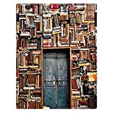 Zomer Kuscheldecke Buch Wand Braun Flauschige Decke Mikrofaser Fleecedecke Weiche und Warme Sofadecke/Couchdecke 125x150 cm