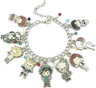 My Hero Academia, braccialetto con ciondoli alla moda, serie Anime Manga, con confezione regalo