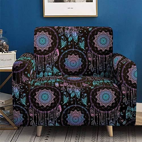Funda de Sofá con estampado tradicional fundas de sofa elasticas Protector de muebles Funda de sofá para 1 2 3 4 plazas,funda para sofá de dos plazas para perros,mascotas,niños(Color:BlueB,Size:1-