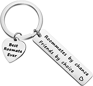 SEIRAA Roommate Gift Going Away Keychain College Graduation Gift Roommate by Chance Friends by Choice Keychain Goodbye Gift for Roommate