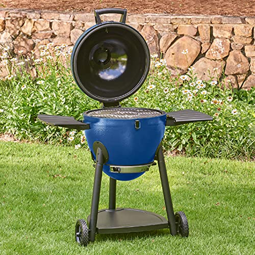 Char-Griller E56720 AKORN Kamado Charcoal Grill, Blue