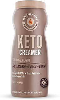 Rapid Fire Ketogenic Creamer with MCT Oil for Coffee or Tea, Supports Energy and Metabolism, Weight Loss, Ketogenic Diet 8...