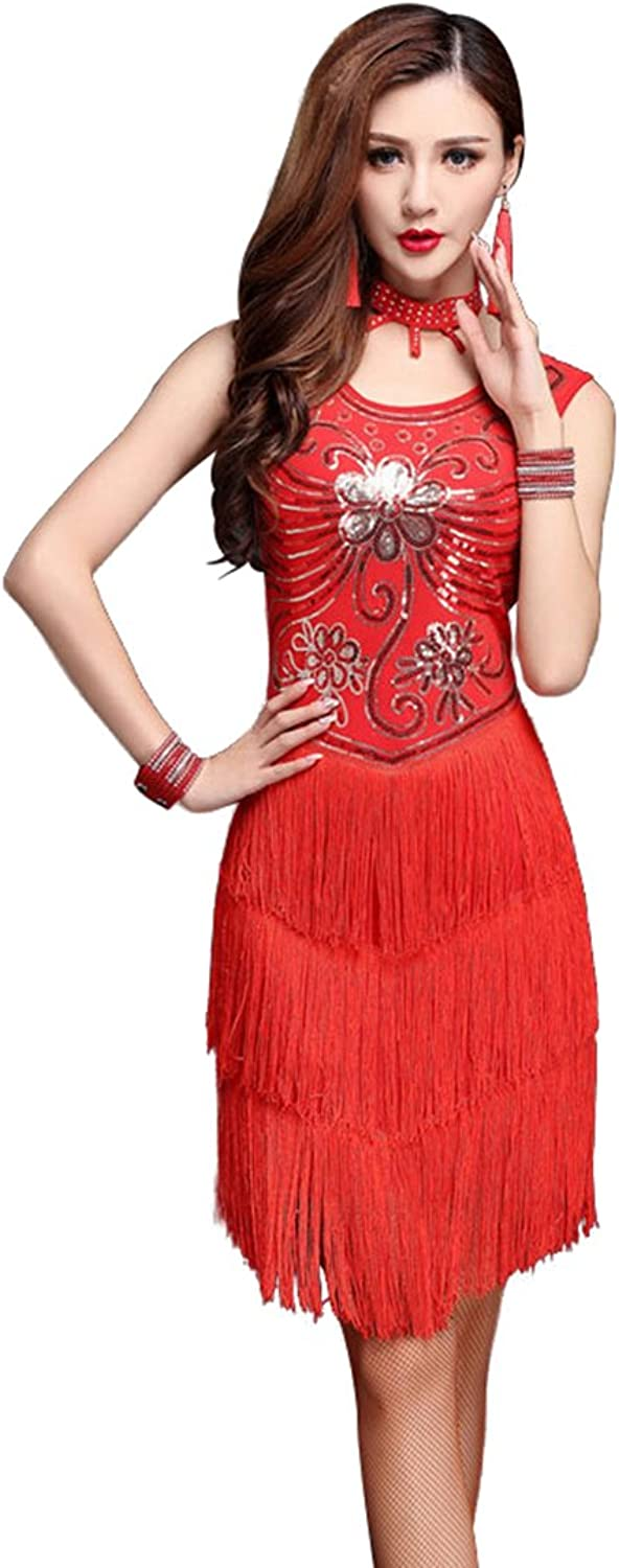 85689cfb85 ZX Gatsby Sequin Deco Flapper Latin Dance Dress 4 Pieces Outfits ...