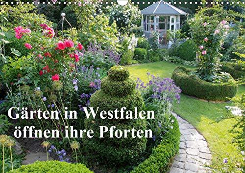 Gärten in Westfalen öffnen ihre Pforten (Wandkalender 2021 DIN A3 quer)