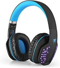 Bluetooth Headphones with Mic, Q2 Foldable Noise Cancelling Over-Ear Headset for PS4 PSP PC Laptop Mobile Game Music Enhan...