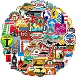 Ausikou Adesivi per Viaggio 100 Pezzi, Graffiti Stickers per Valigia Paraurti Automobili Motociclette Bicicletta, Vinili Adesivo