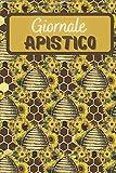 Giornale Apistico: Diario per gli amanti delle api | Diario di bordo per gli apicoltori | Libro di lavoro | Taccuino dell'inseguitore dell'ape del ... collega | Nizza Natale o compleanno Present