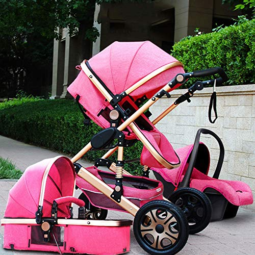Best Prices! MQQ High Landscape Baby Stroller can sit Reclining Two-Way Four-Wheel Shock Absorber Fo...