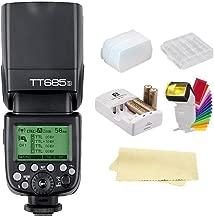 Godox Thinklite TT685S TTL 2.4GHz GN60 High Speed Sync 1/8000s Wireless Master Slave Camera Flash Speedlite Speedlight Light for Sony Cameras&44AA Batteries&Charger