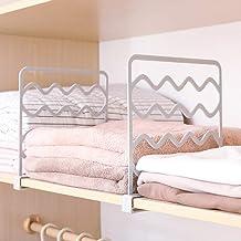 Laugh Cat Vertical Shelf Dividers for Wood Closet Sturdy Plastic Cloth Organizer Separator 8pcs