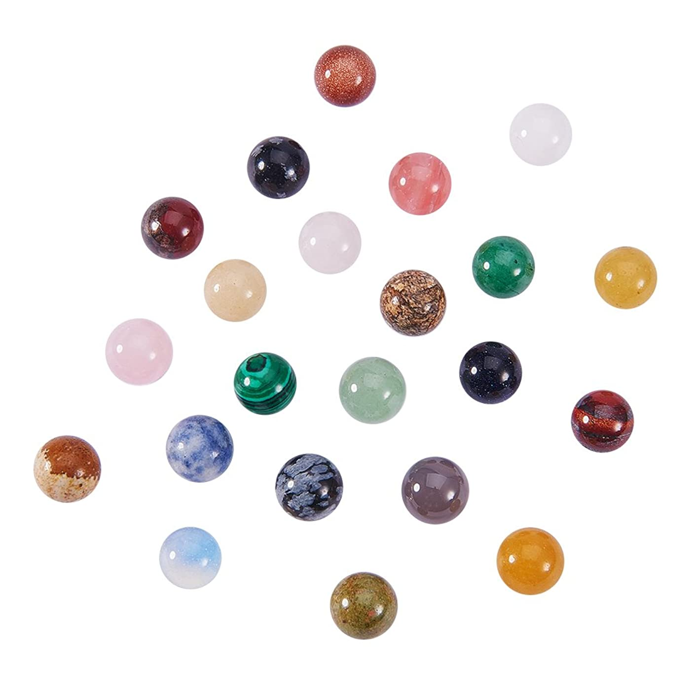 NBEADS 100 PCS Random Mixed Color No Hole Undrilled Natural Gemstone Beads, Synthetic Loose Beads Stone Charms for DIY Jewelry Making cycoprttfsv755