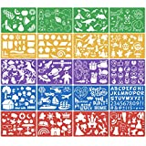 HQdeal 20pcs Plantillas de Pintura Set Plantillas de Dibujo para Niños de Plástico Plantillas de Navideña para Pintar Plantillas Reutilizable para Bricolaje Tarjetas Manualiadades Pintar para Niños