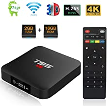 T95 S1 Android 7.1 tv box with 2GB RAM/16GB ROM Amlogic S905W Quad-core Digital Display HDMI HD Support 2.4G Wifi 3D 4K