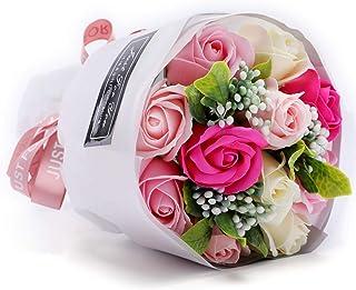 枯れない花 ソープフラワー 花束 造花 バラ 石鹸花 ギフト フレグランス シャボンフラワー 贈り物 お見舞い 母の日 お祝い 入学 卒業 結婚祝い 記念日 誕生日 プレゼント 女性(花11輪)(ピンク)