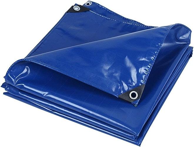Gxmyb Bache sous-bache multifonctionnelle pour bache Robuste pour Camping et Plein air, épaisseur 0,45 mm Options (Bleu) Couverture de Piscine (Taille   2mx2m)