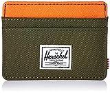 Herschel Men's Charlie Wallet, Forest Night/Vermillion Orange RFID, One Size