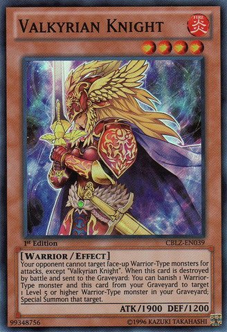 YU-GI-OH! - Valkyrian Knight (CBLZ-EN039) - Cosmo Blazer - 1st Edition - Super Rare