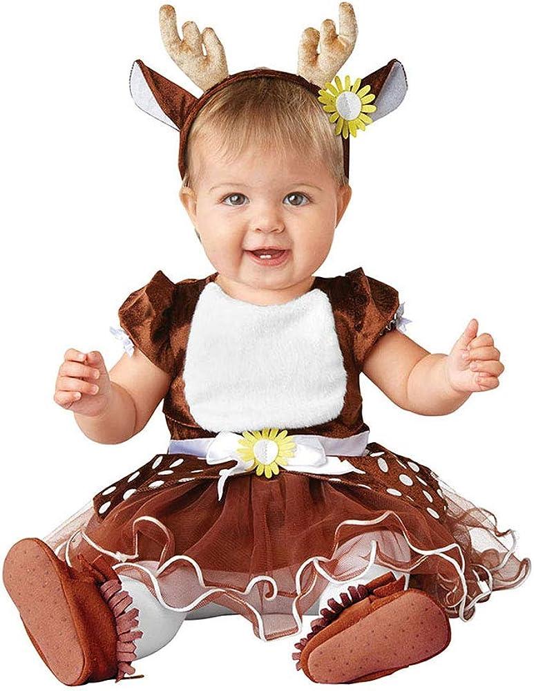 2021 new Seasons Reindeer 100% quality warranty! Costume Dress and Headband Antlers 12-18 Brown