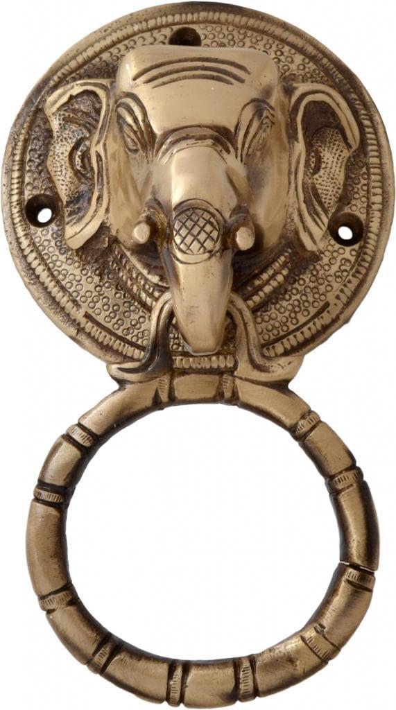 Two Moustaches Brass Elephant Popular overseas Face Knocker Alternative dealer Door