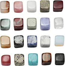 CrystalTears Natural Mineral Rock Specimen Gemstone Collection & Collection Box Tumbled Stones Polished Crystal Kit for Reiki, Wicca,Cabbing(20pcs Irregular Shape)