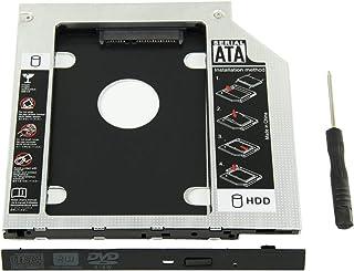 YOMYM Universal 9.5mm SATA to SATA 2nd SSD HDD Hard Drive Caddy Adapter Tray Enclosures for DELL HP Lenovo ThinkPad ACER G...