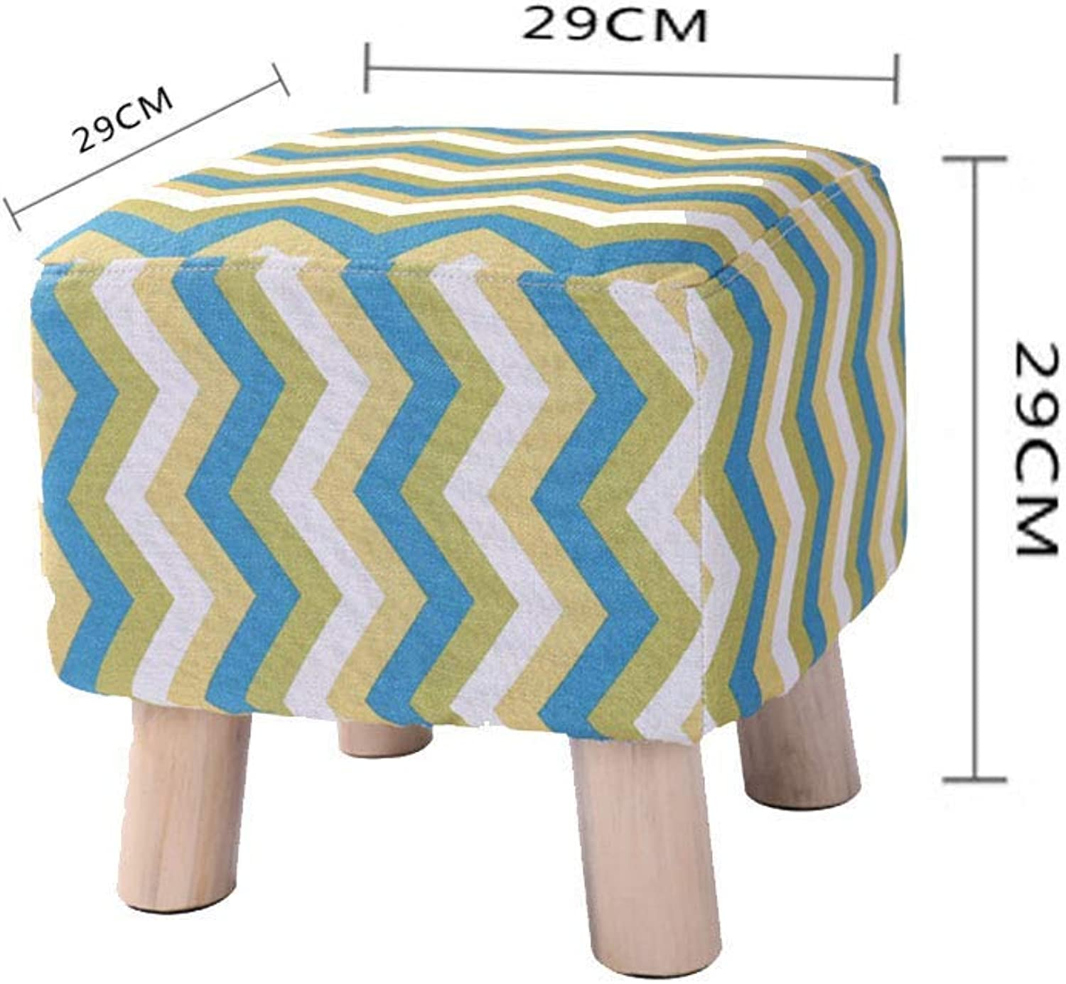 BBG Small Furniture Anti-Slip Stool Footstool shoes Bench Sofa Stool Change shoes Bench Wooden Stool Cloth Change shoes Sofa Home Fashion Solid Wood Multi-Function Stool Multifunction Household Creativ
