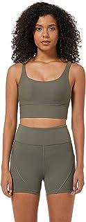 Sports Bra Women Mid Impact, Sexy Thread Cross Back Sports Bra for Gym Yoga,Green,4