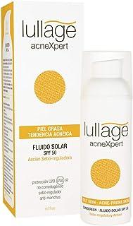 Lullage acneXpert Filtro Solar Facial SPF 50 Protege tu Piel de los Efectos del Sol para Piel Grasa Fórmula oil free y no ...