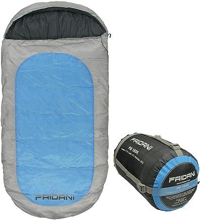 Fridani Mantas Saco de Dormir para niños PB 180x90cm XXL -12°C Azul Repelente