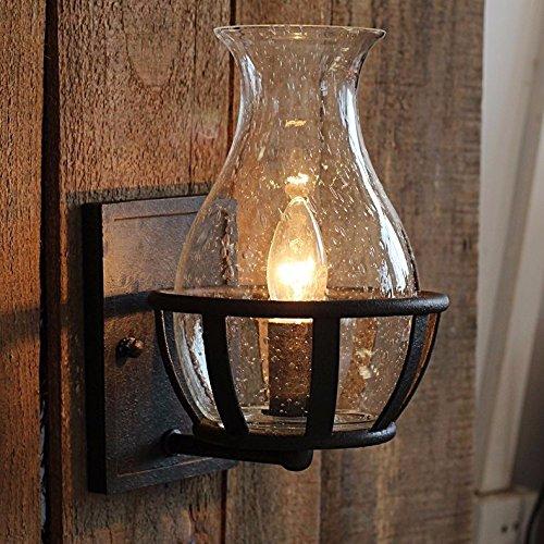 VanMe Jarrón De Cristal Apliques Antiguos Forma Vintage Lámpara De Pared