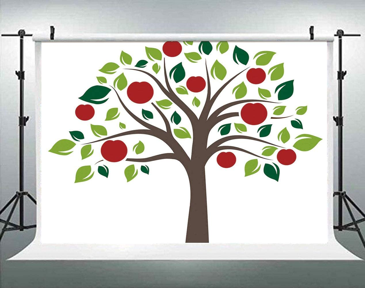 Nursery Concept Joyous Forest Animals and Plants Apples Backdrop Vintage Photo Background Cotton for Booth Graduation Prom Decor No Wrinkle AM031450 ALUONI 7x5ft Tree