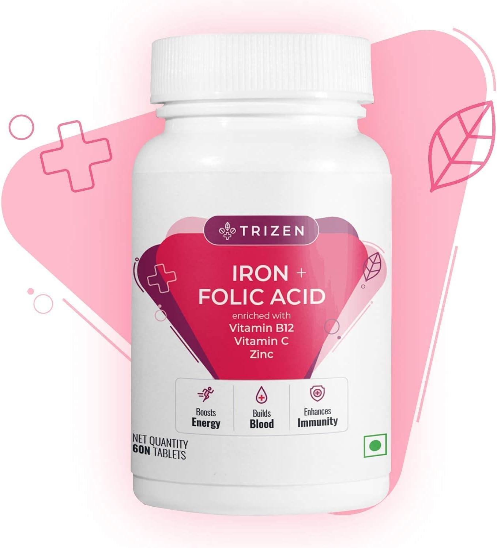 online shopping Organic Touch Trizen Iron Folic Vitamin B12 2021new shipping free shipping with C Acid
