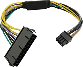 Longdex 11 Inch 24-Pin to 8-Pin 18AWG ATX PSU Power Supply Adapter Cable for Motherboards