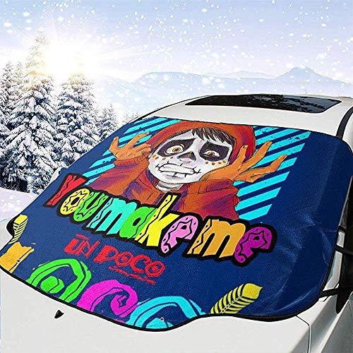 MaMartha Car Windshield Snow Cover Sie Machen Mich un Poco Loco Auto Windschutzscheibe Schneedecke, Eisentfernung Sonnenschutz, Universal Fit