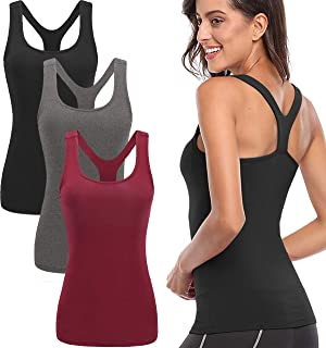 Tank Tops for Women, Womens V-Shape Workout Tank Tops Clothes for Women Yoga Basic Running 3 Pack