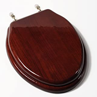 mahogany toilet seats with brass fittings