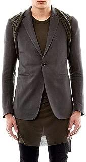Wool Charcoal Hustler T-Shirt Panel Jacket