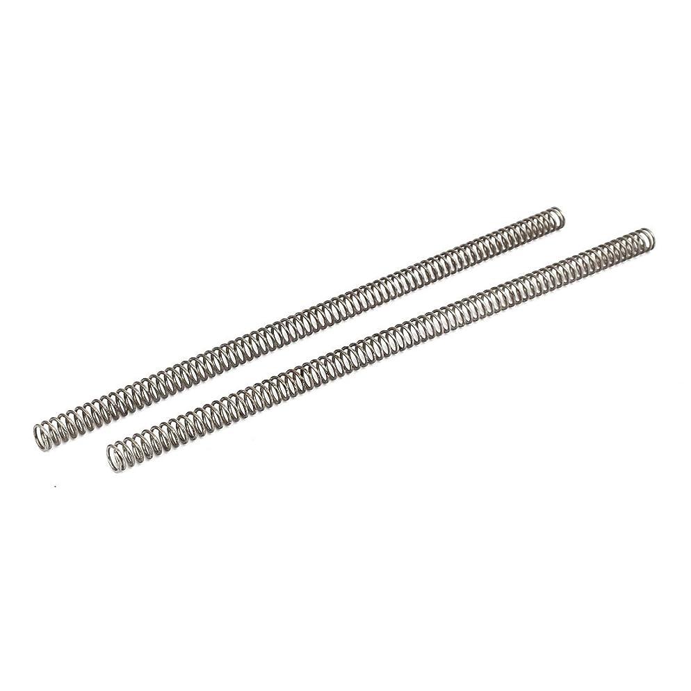 トライアスロンアッパーインフラuxcell 圧縮ばね 圧縮スプリング マンガンスチール ワイヤースプリング ブラック 1.5mmワイヤー径 2個入り
