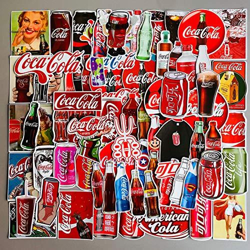 DSSJ Pegatina para caja de equipaje, diseño retro de Coca-Cola con texto en inglés 'Europe and the United States
