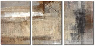 wall26 Abstract Brown and Beige Painting Canvas Wall Art Ready to Hang –..