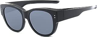 Oversized Lens Cover Sunglasses Mirrored Polarized Lens for Men Women