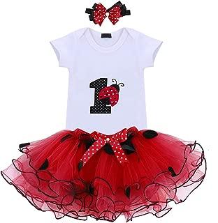Baby Girl Newborn 1st Birthday Cake Smash 3Pcs Outfits Shinny Sequin Bow Princess Romper+Tutu Skirt Dress+Headband